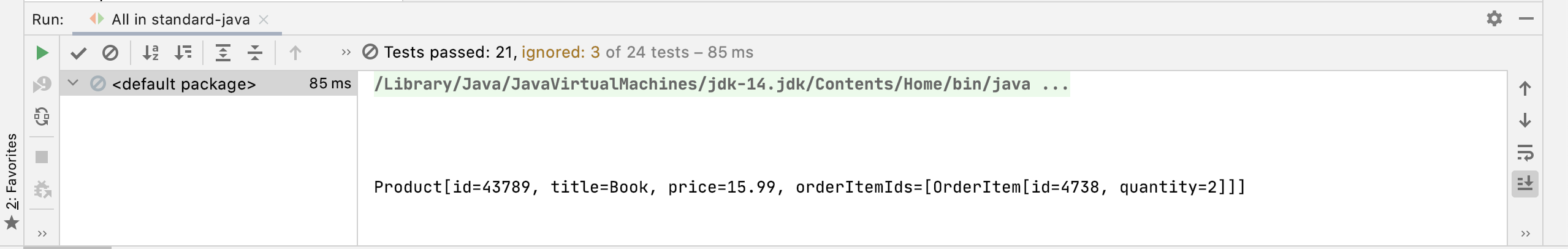 JUnit Hide Passed and Ignored Tests
