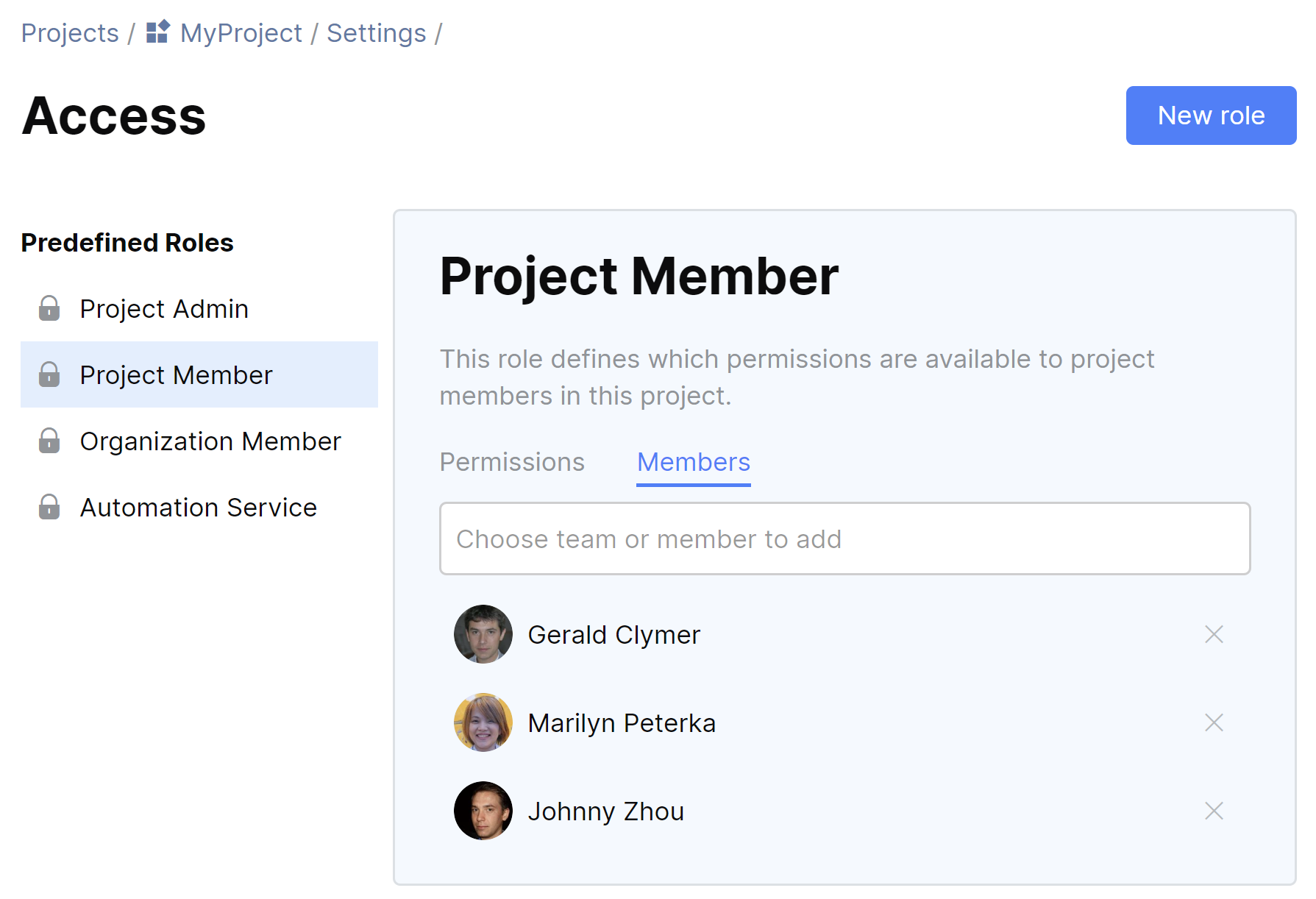 JetBrains Space. Project Members
