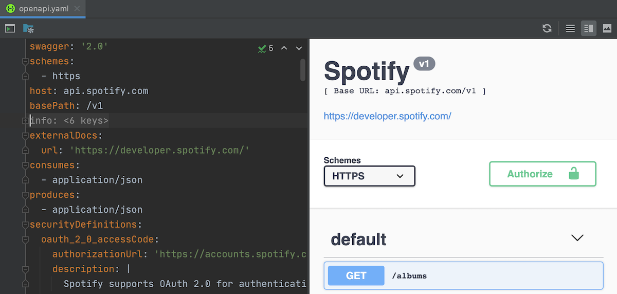 Preview interactive OpenAPI docs