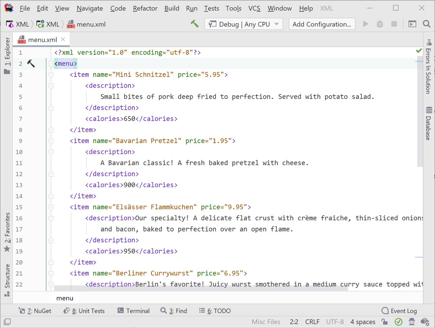 Find a node using XPath