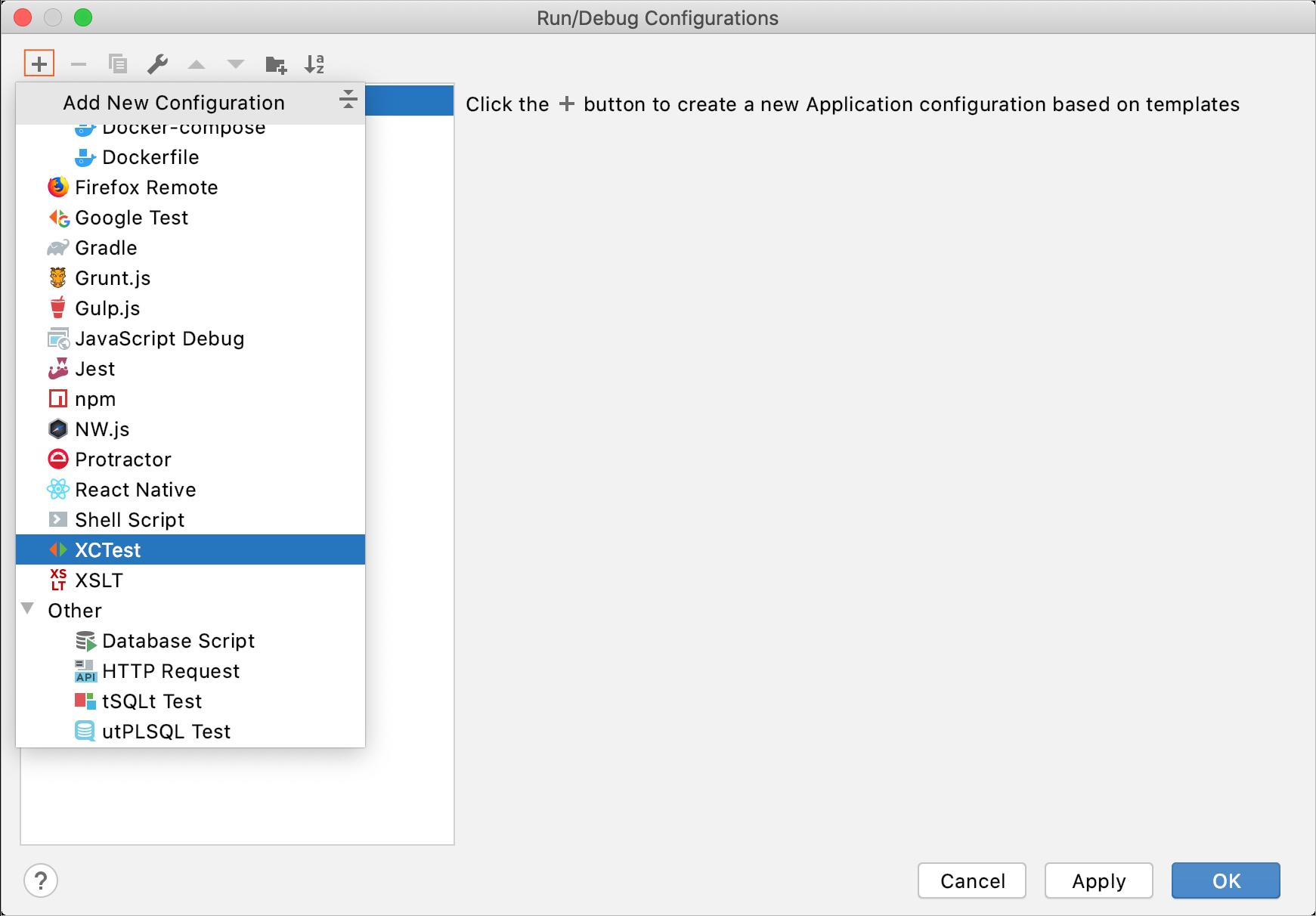 Create test config