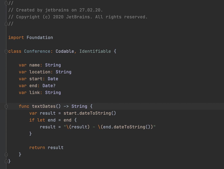 Fold code