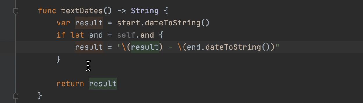 Fold a code block