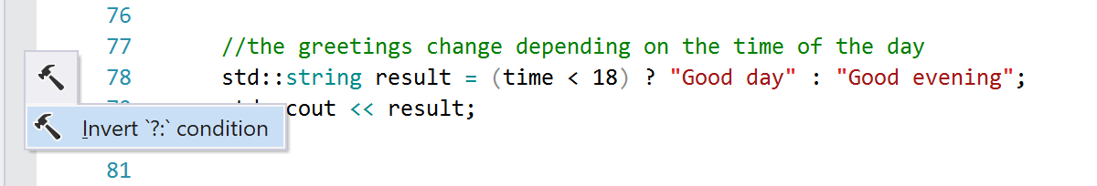 Invert a ternary operator expression