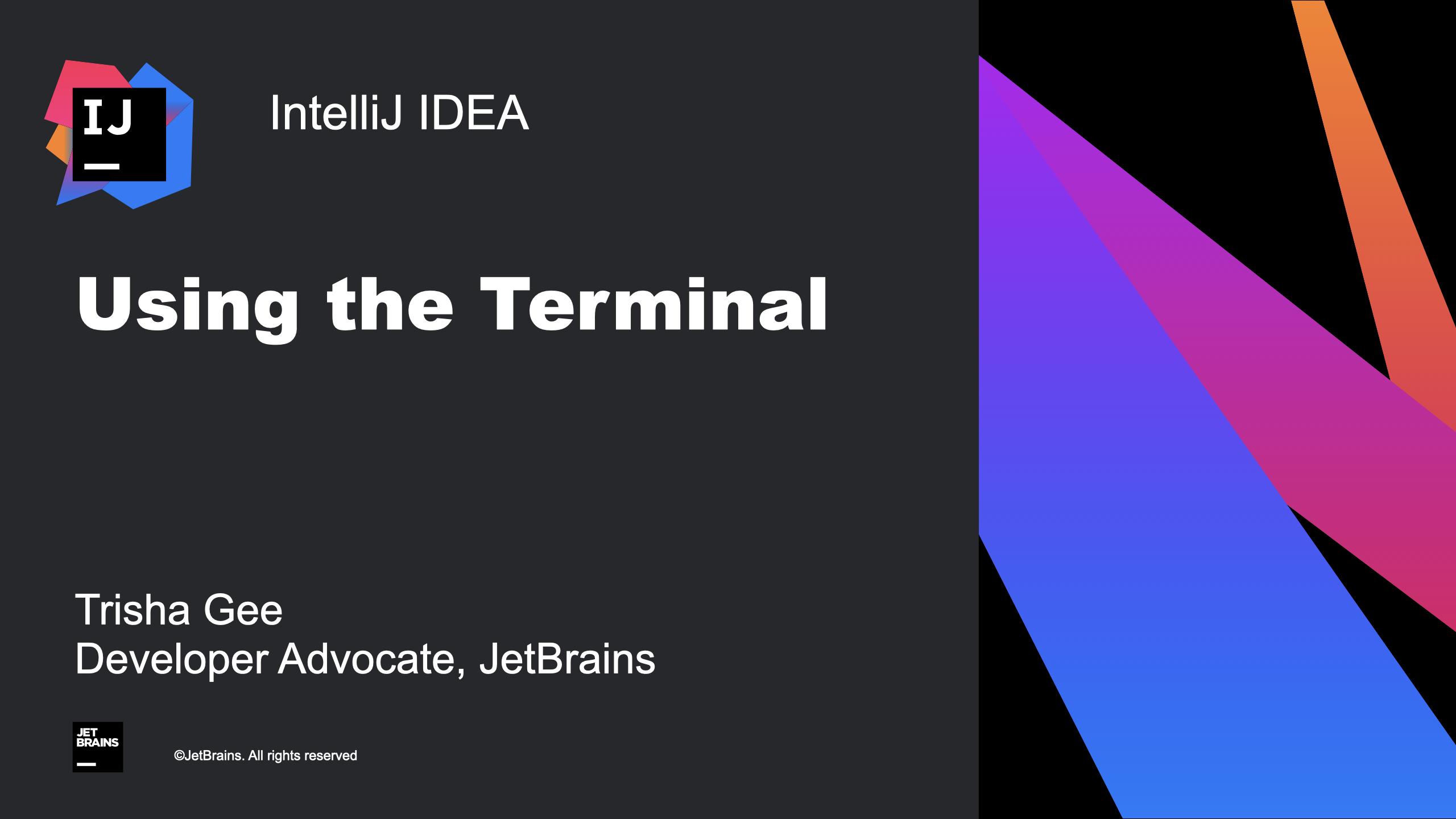 Utilisation du terminal intégré IntelliJ IDEA
