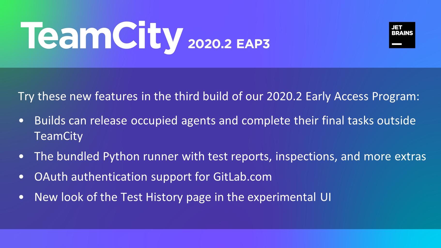 TeamCity 2020.2 EAP3