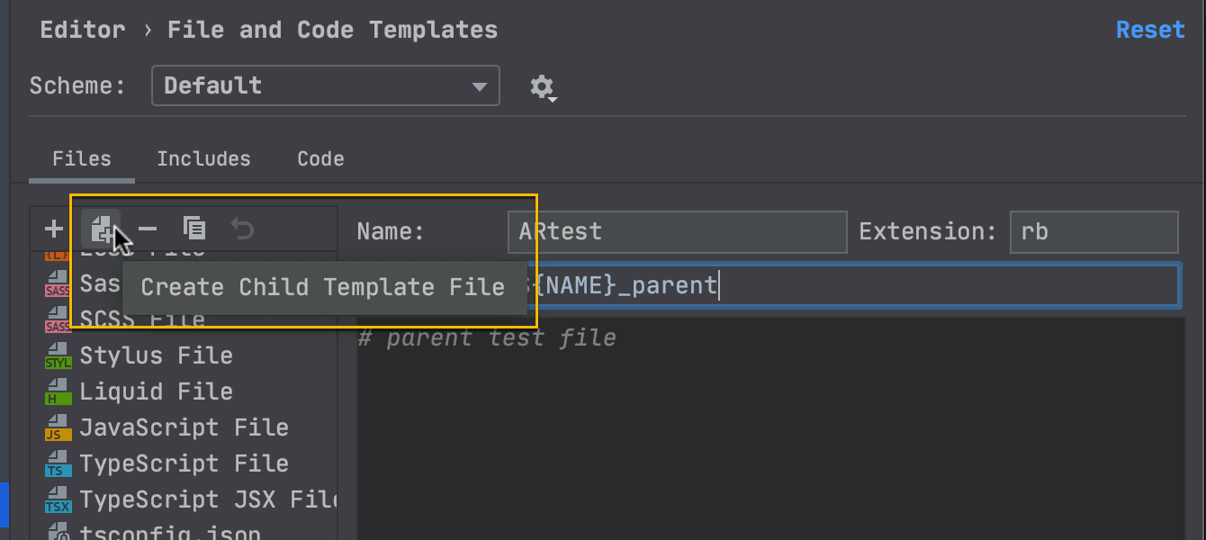 Use a template with multiple files