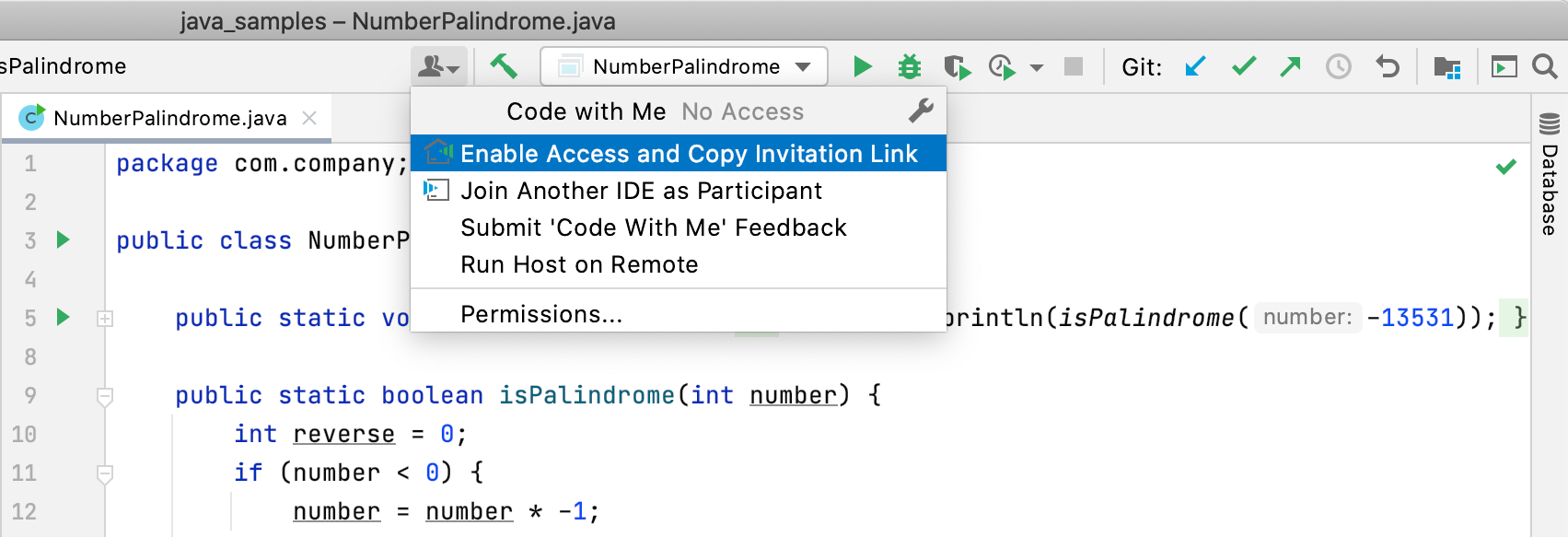 Code With Me icoon voorbeeld