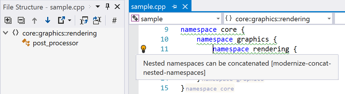 Nested namespaces in File Structure