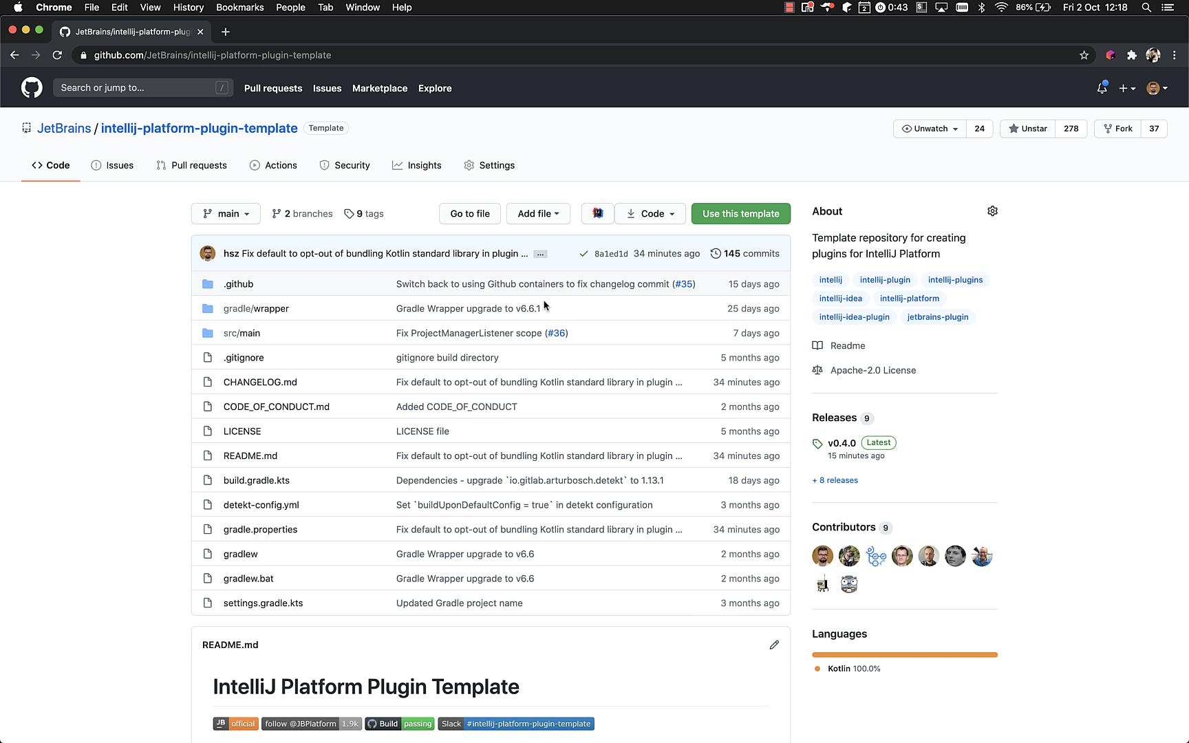 IntelliJ Platform Plugin Template