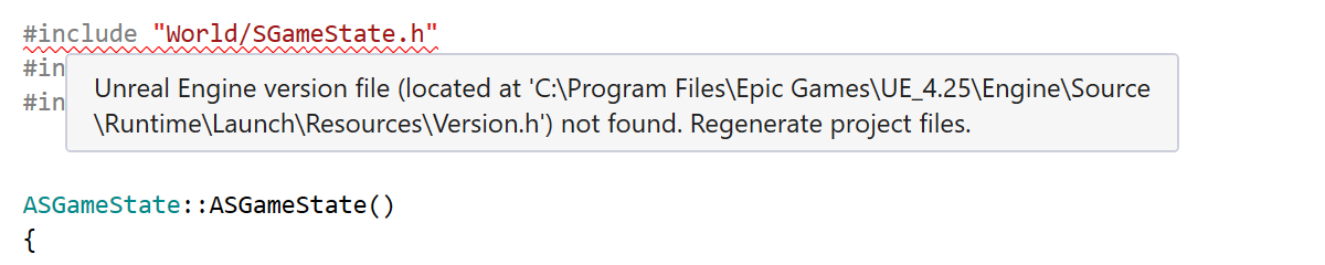 Regenerate the project files