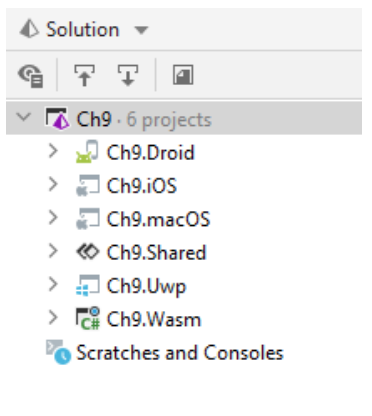 ch9 solution with 6 projects
