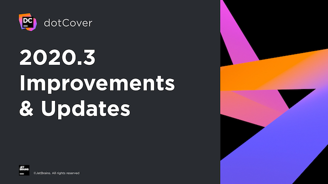 dotCover 2020.3 updates and improvements