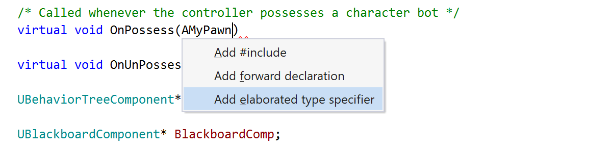 Add an elaborated type specifier