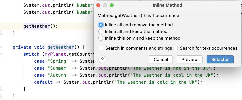 Inline Method