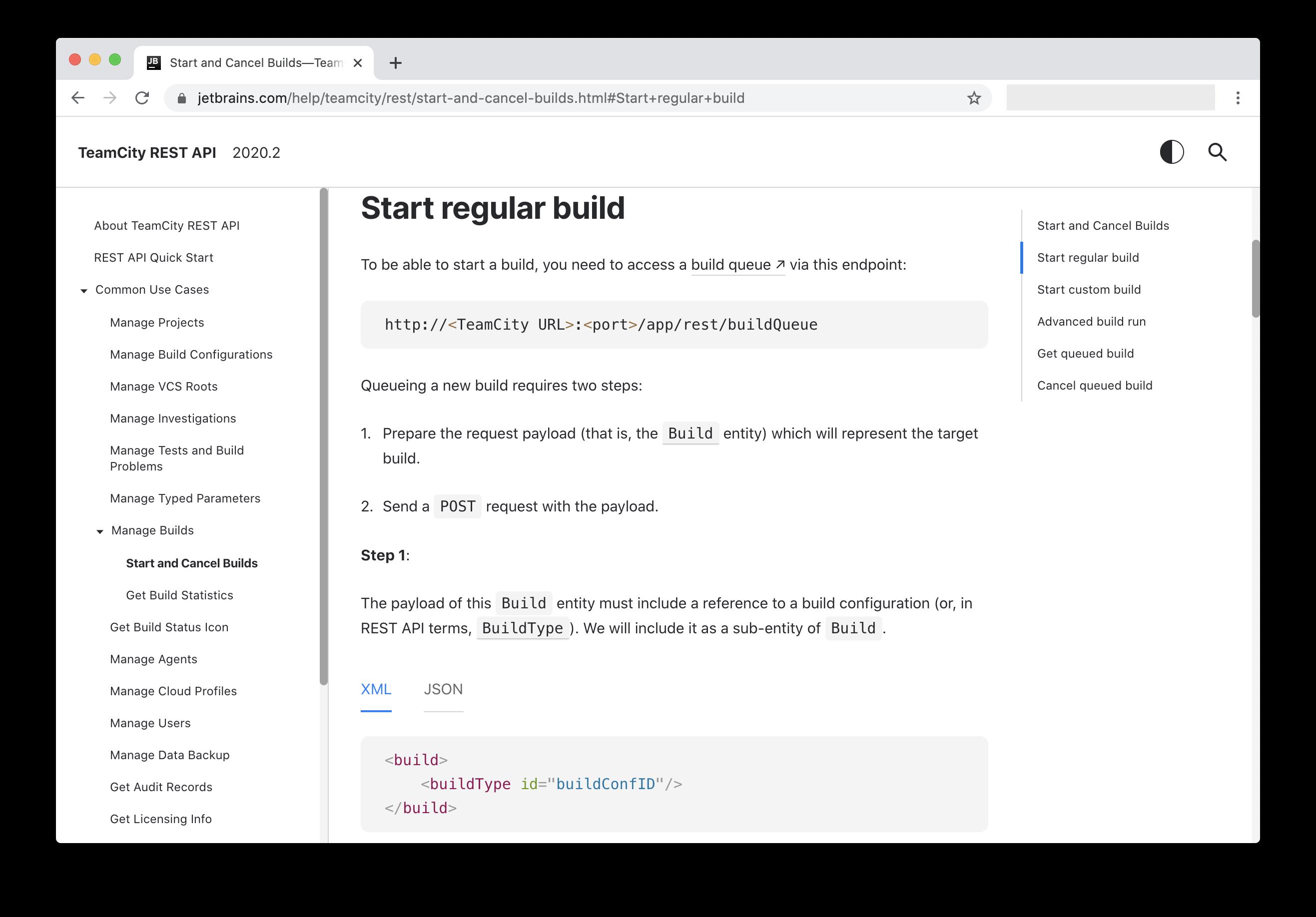 New TeamCity REST API documentation