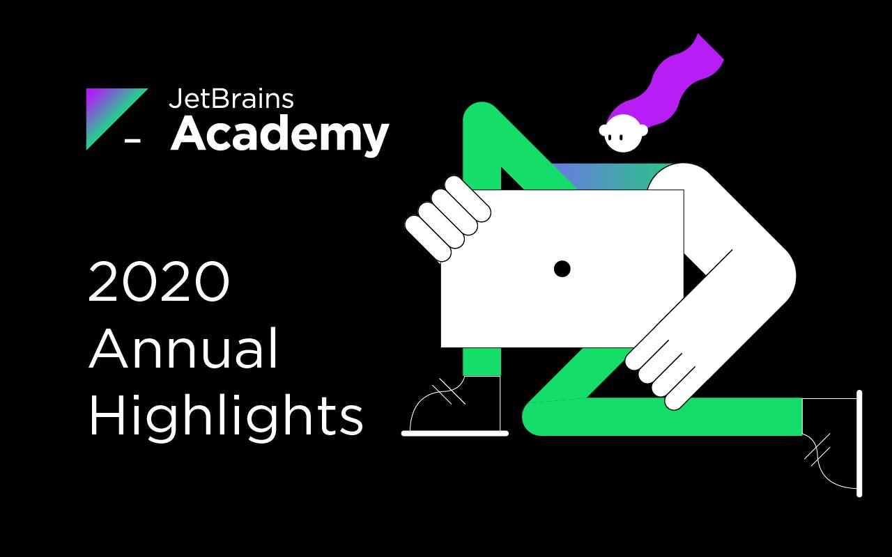 Chiffres clés et faits marquants de 2020 pour Jetbrains Academy