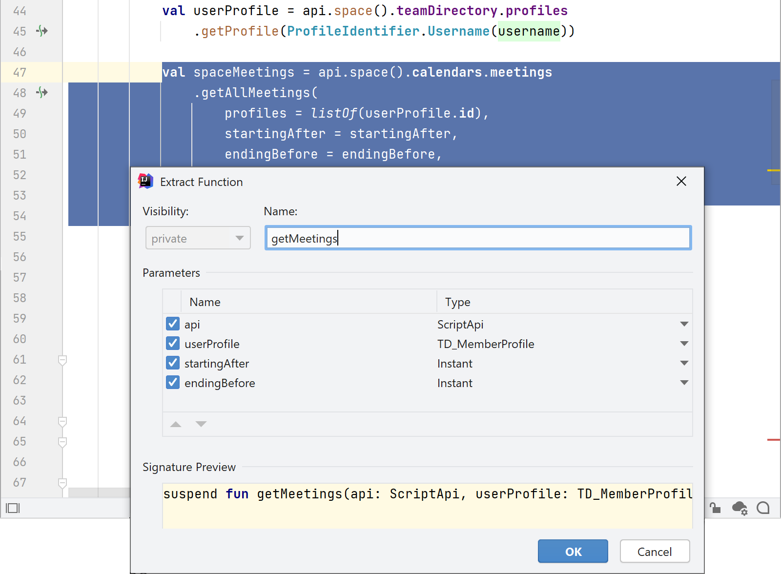 Space plugin in IntelliJ IDEA IDE provides tools to refactor