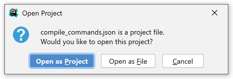 Open as Project