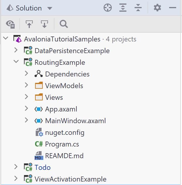 axaml extension seen in Riders solution explorer