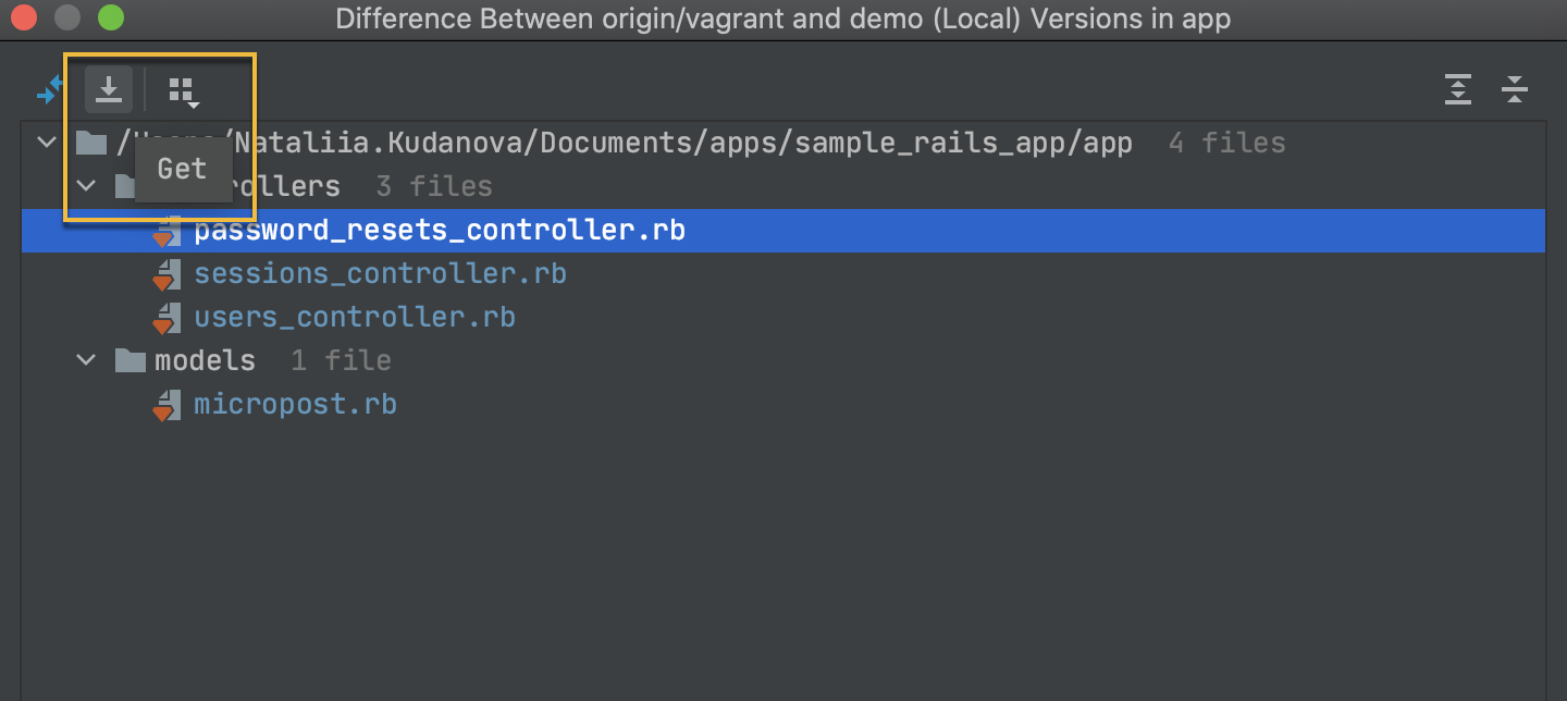 Copy a file from a remote branch