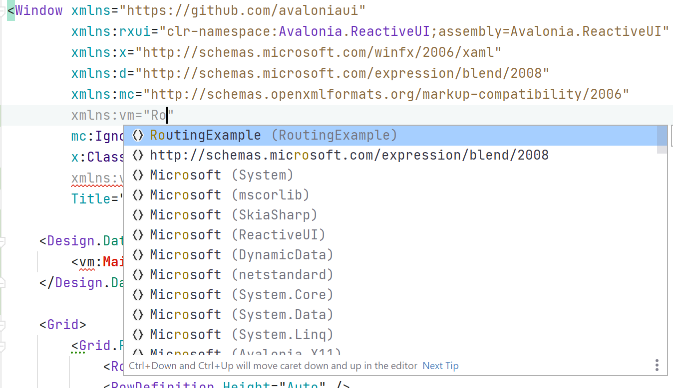 xaml references inside of editor
