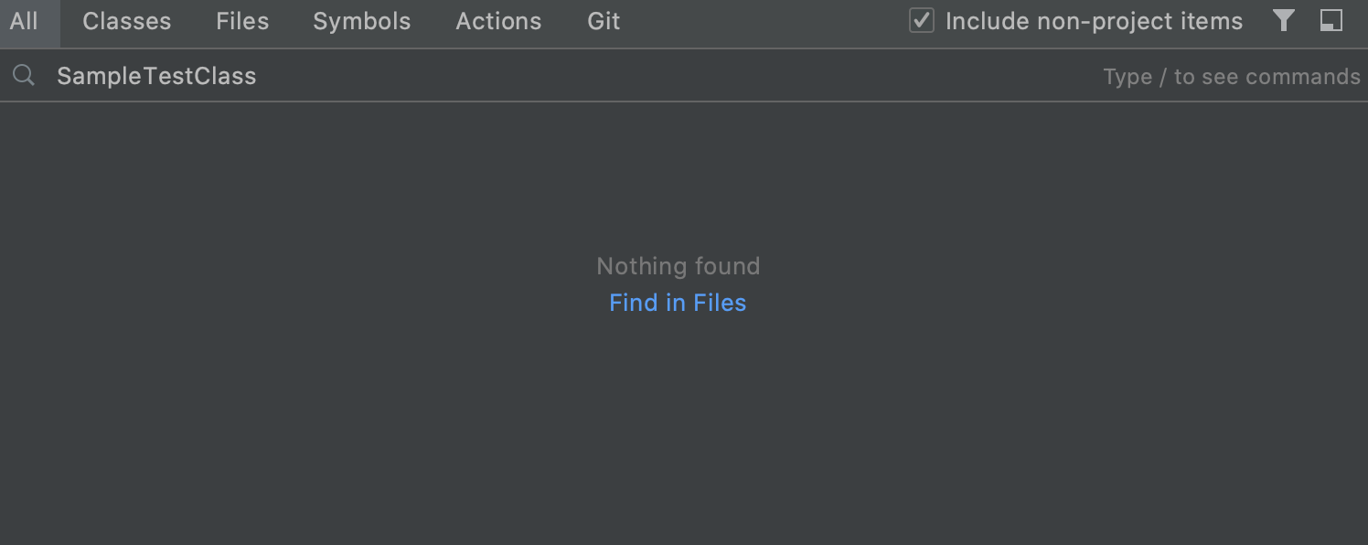Find in Files from Search Everywhere