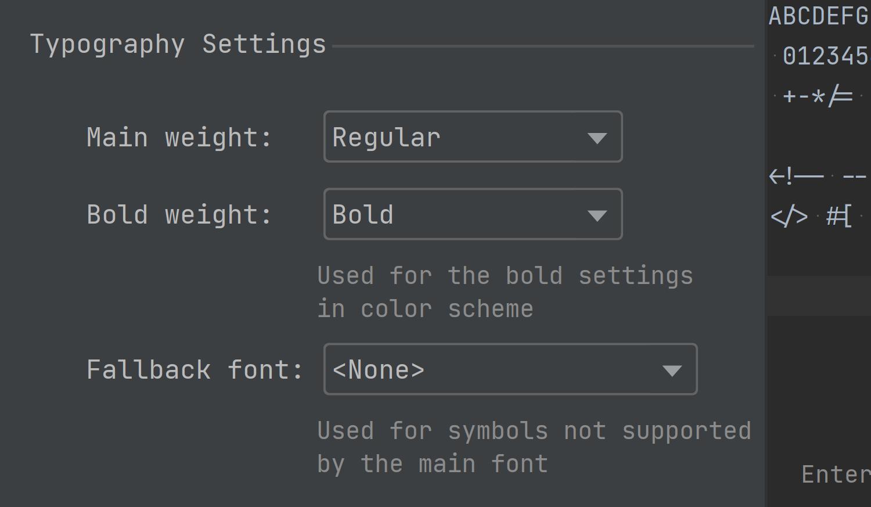 Font Variation Support