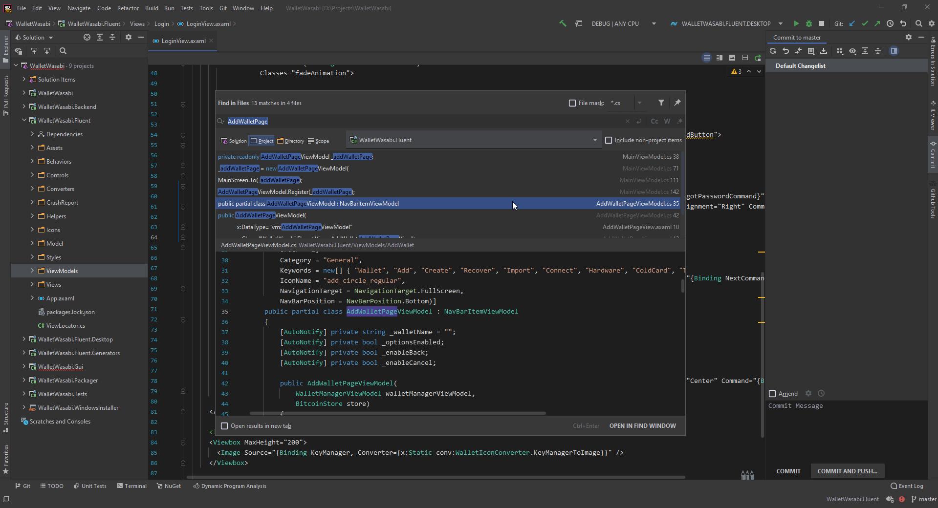 Using Rider to develop Avalonia cross-platform UI
