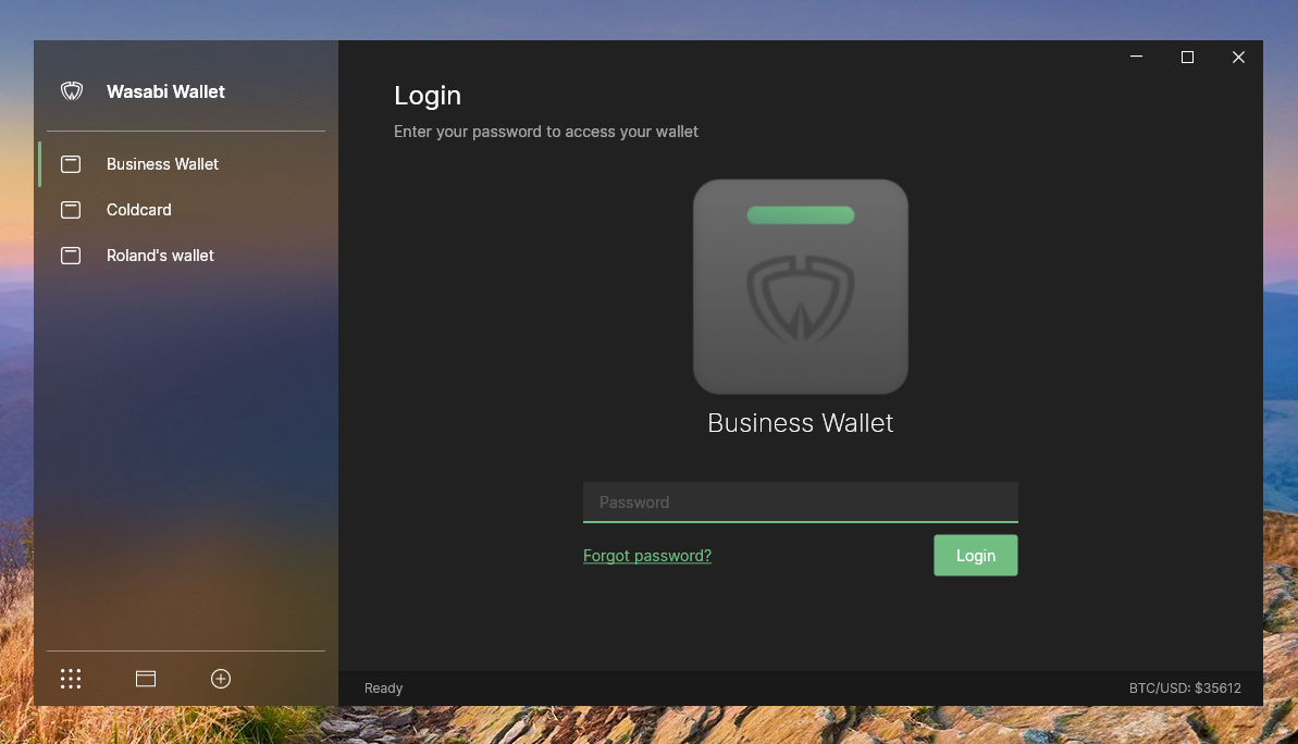 Wasabi Wallet - Application developed with .NET, Avalonia and JetBrains Rider