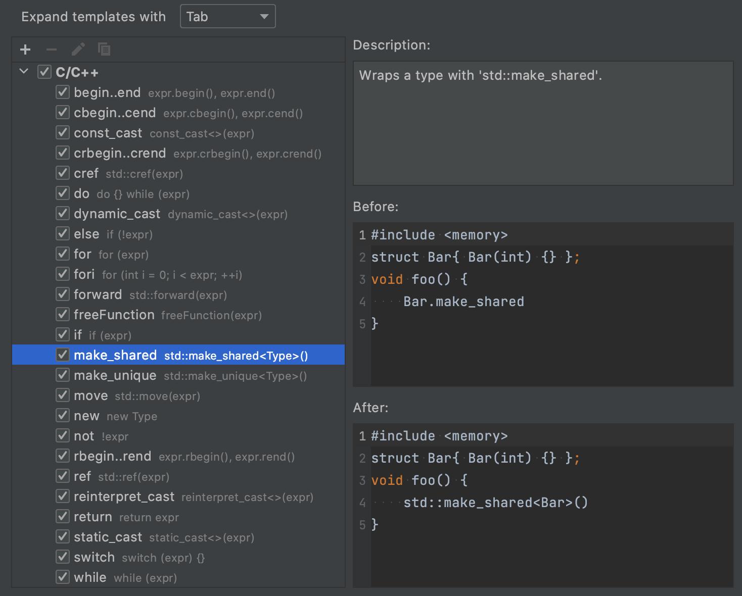 Postfix templates settings