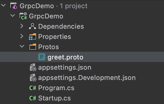 Creating a proto file inside of JetBrains Rider