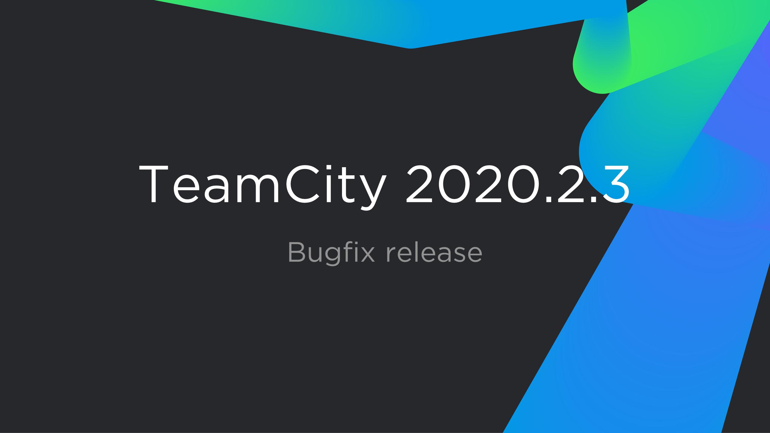 TeamCity 2020.2.3