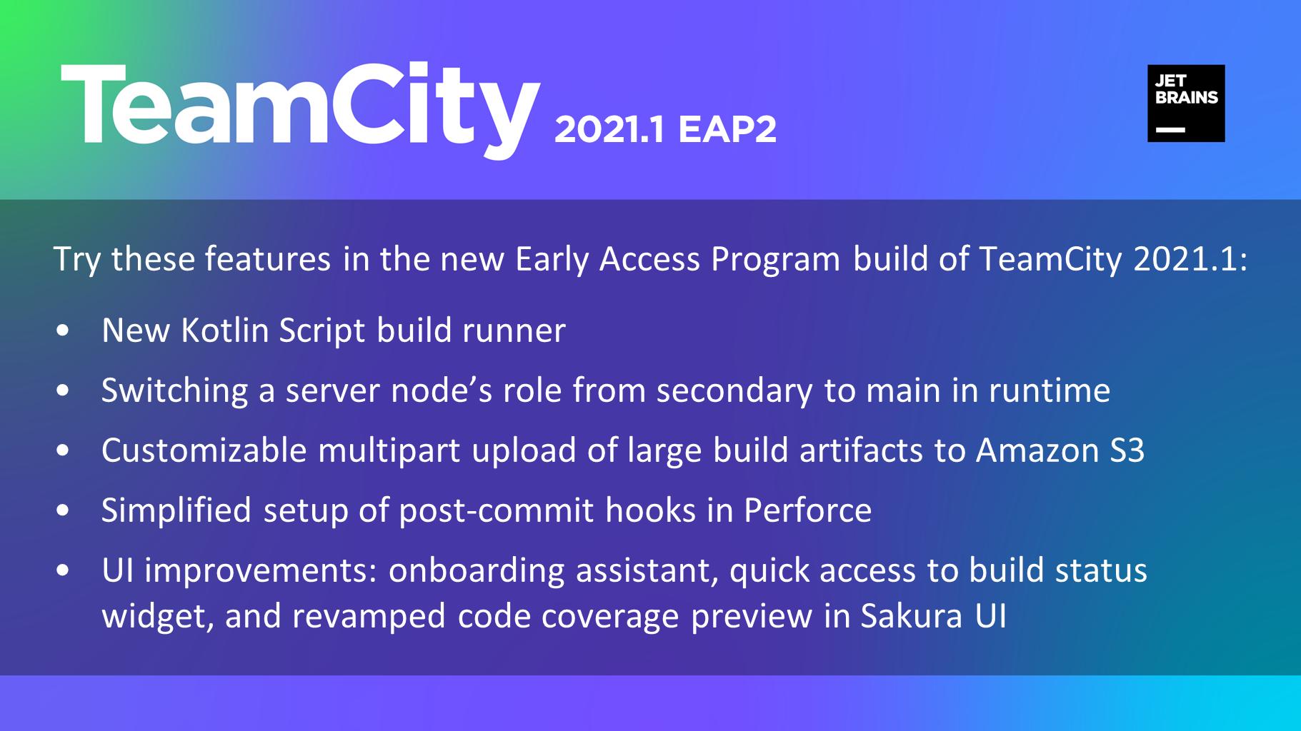 TeamCity 2021.1 EAP2