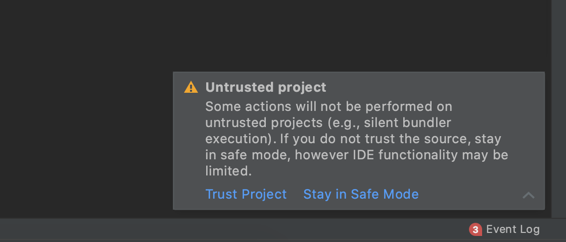A warning about untrusted source