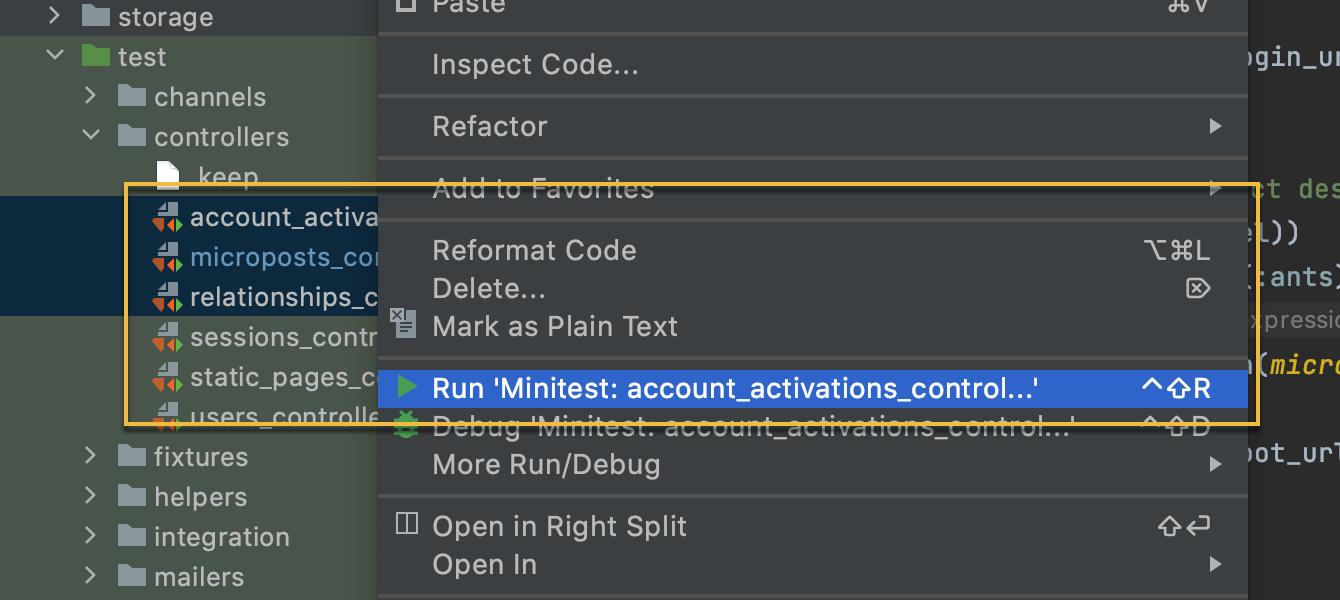 Run multiple test files