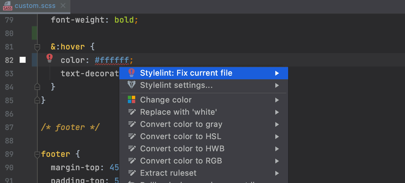 Stylelint support