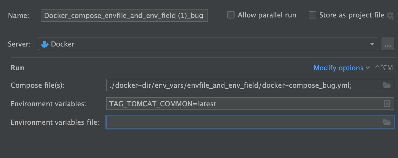 Docker Run/Debug Configurations