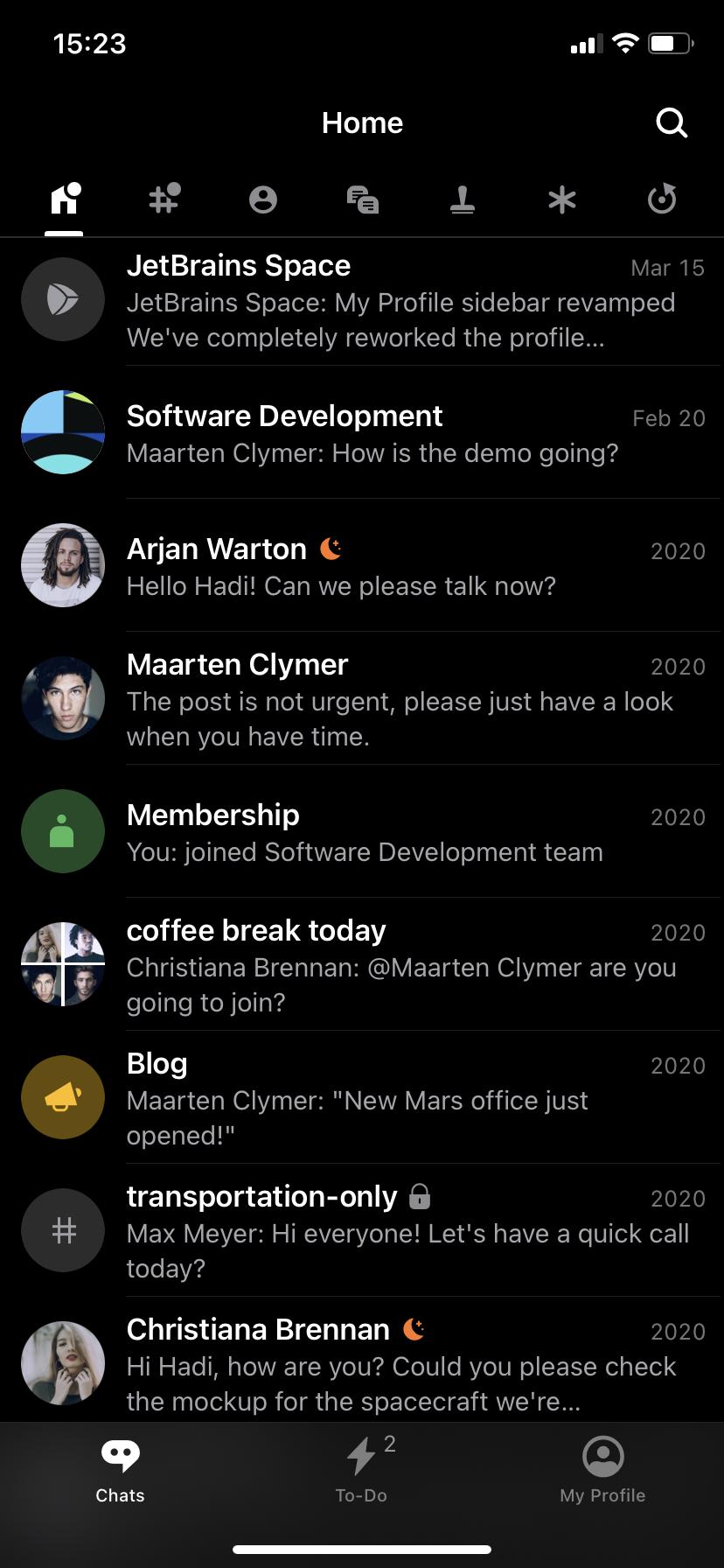 iOS için Space Koyu Tema etkinleştirildi