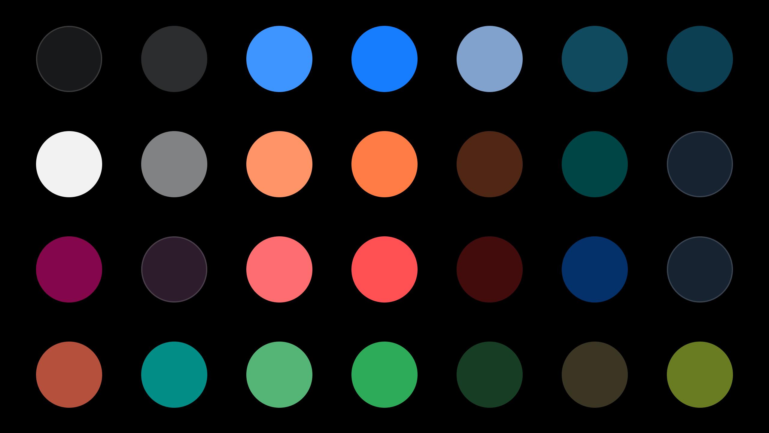 Space Koyu Tema Paleti