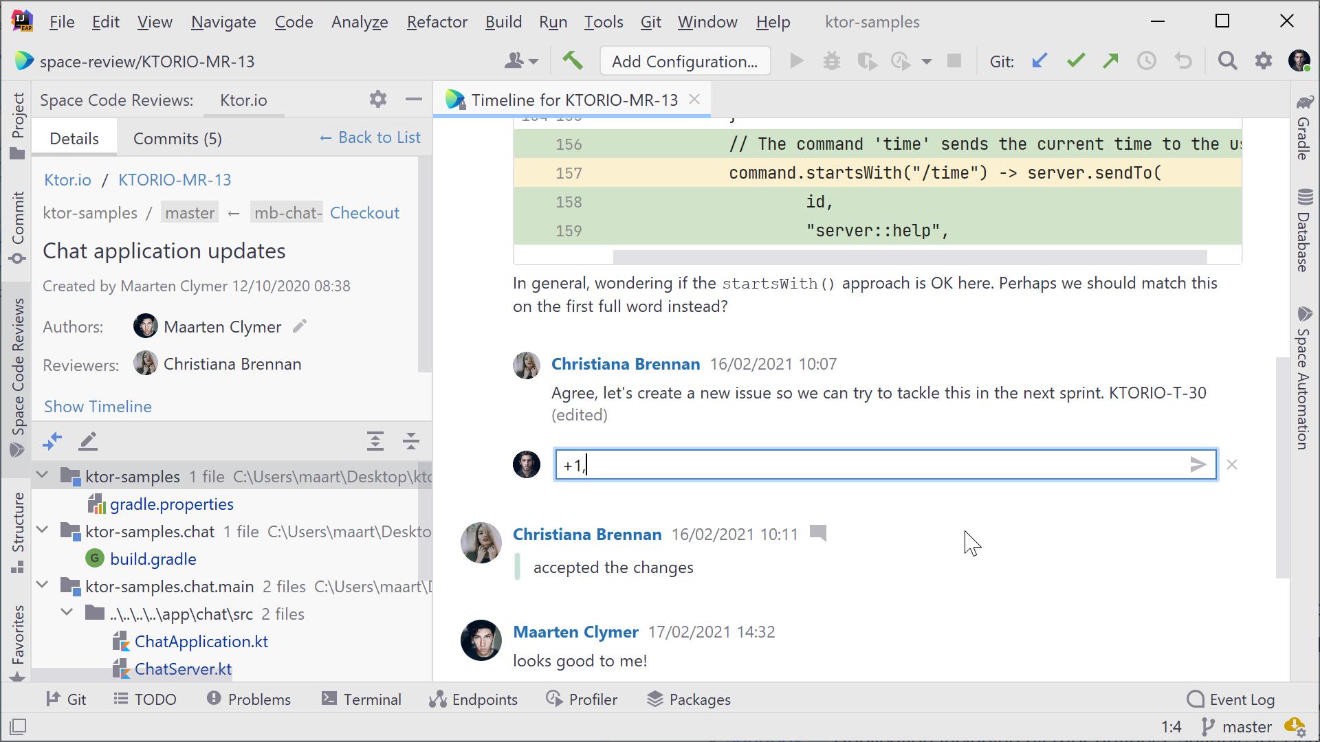Répondre aux commentaires et aux fils de discussion dans une révision de code