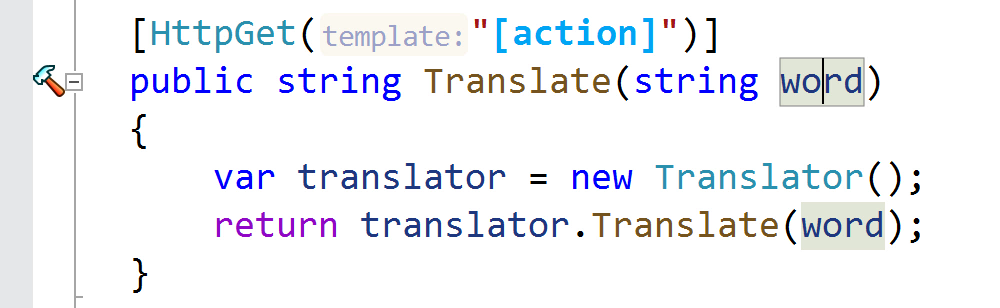 Add route parameter to template