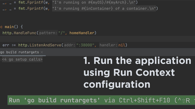 Run a regular Run Configuration