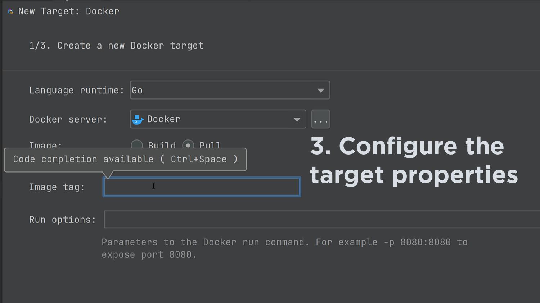 Create a Docker Run Target
