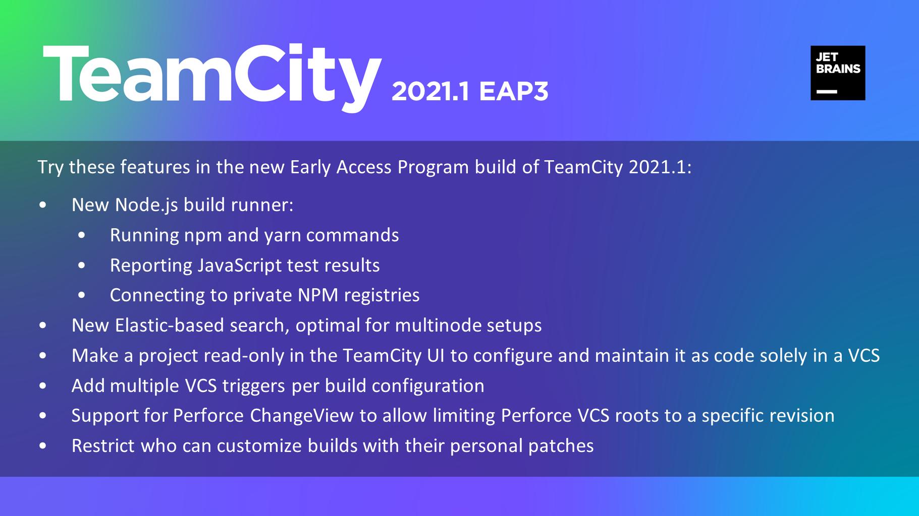 TeamCity 2021.1 EAP3