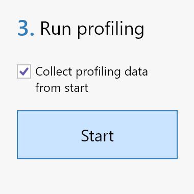 Run profiling column in dotTrace 2021.1.