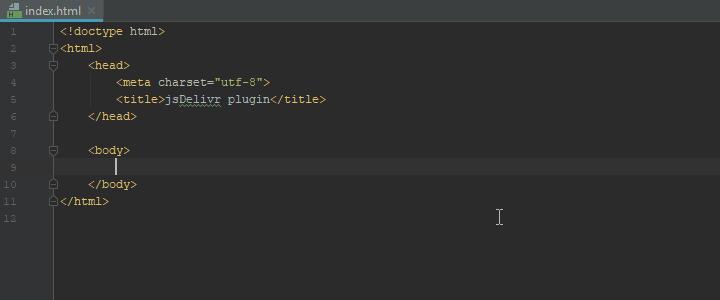 jsDelivr in an HTML file