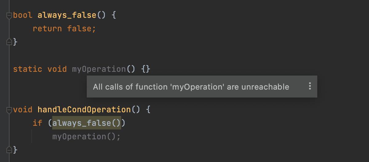 Unreachable function calls
