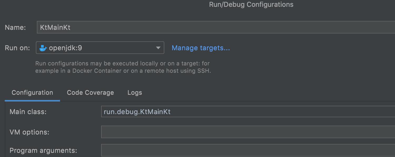 Kotlin - Run Targets and WSL 2