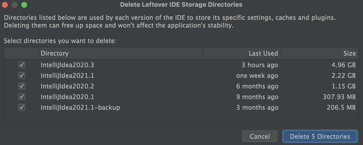 Cache Logs Cleanup